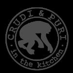 Logo della Rubrica di Cucina CRUDI & PURI in the kitchen.